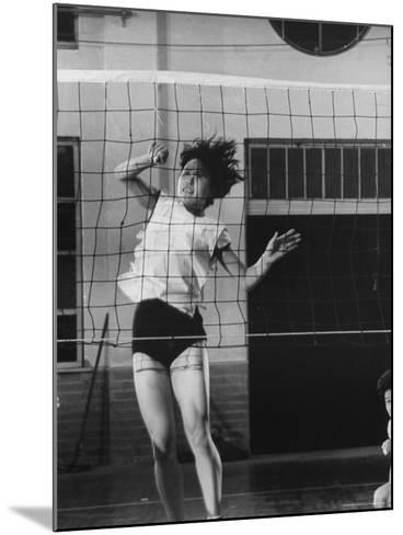 Member of Japan's Nichibo Championship Women's Volleyball Team-Larry Burrows-Mounted Photographic Print