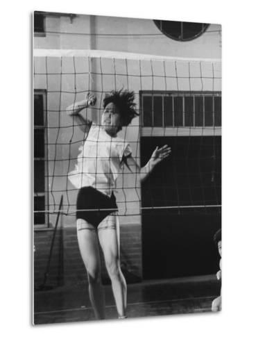 Member of Japan's Nichibo Championship Women's Volleyball Team-Larry Burrows-Metal Print