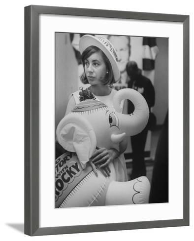 Rockefeller Supporters During the 1964 Republican Campaign-George Silk-Framed Art Print