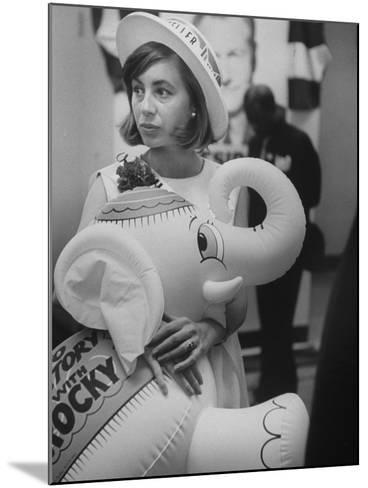 Rockefeller Supporters During the 1964 Republican Campaign-George Silk-Mounted Photographic Print