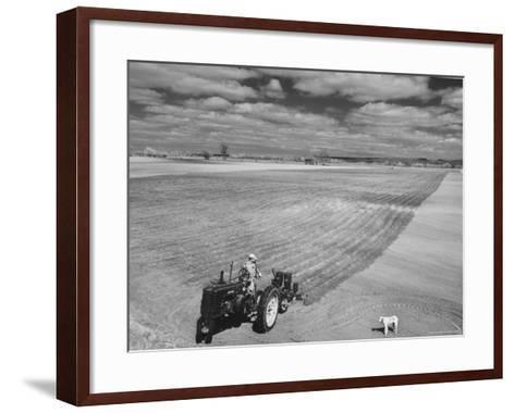 Spring Plowing in de Soto Kansas-Francis Miller-Framed Art Print