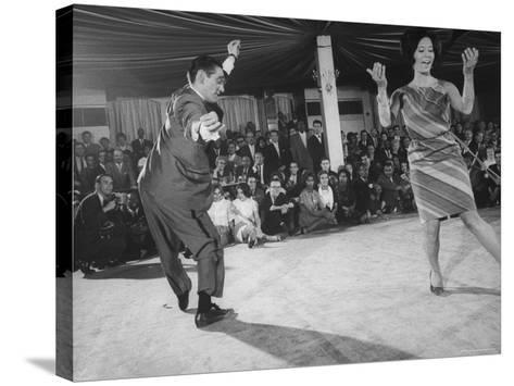 """People Dancing the """"Pachanga""""-Yale Joel-Stretched Canvas Print"""