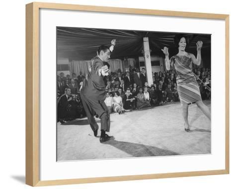 "People Dancing the ""Pachanga""-Yale Joel-Framed Art Print"