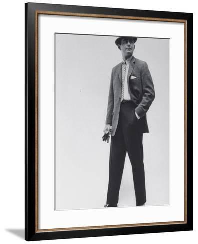 Model Wearing Proper Fashion Suits-Nat Farbman-Framed Art Print