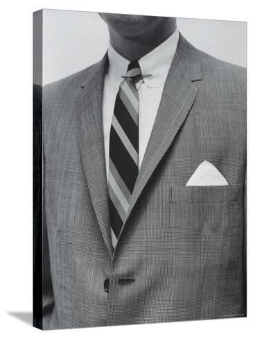Model Wearing Proper Fashion Suit-Nat Farbman-Stretched Canvas Print