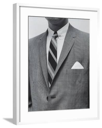 Model Wearing Proper Fashion Suit-Nat Farbman-Framed Art Print