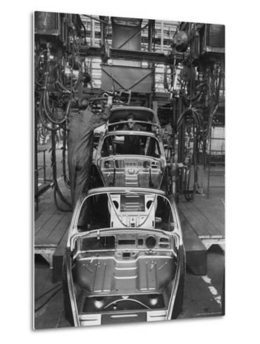 Volkswagen Plant Assembly Line-James Whitmore-Metal Print
