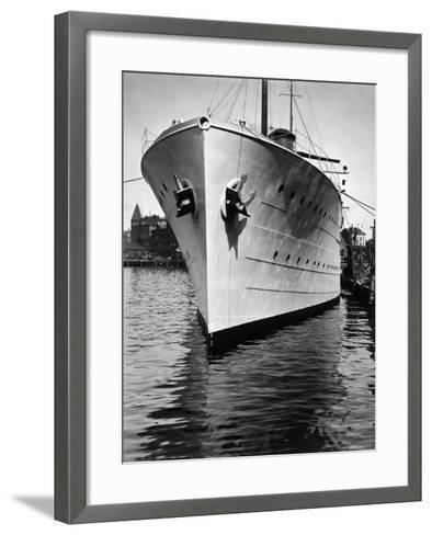 Mr. Astor's Yacht, the Nourmahal, Docked at Port in Kiel-Emil Otto Hopp?-Framed Art Print