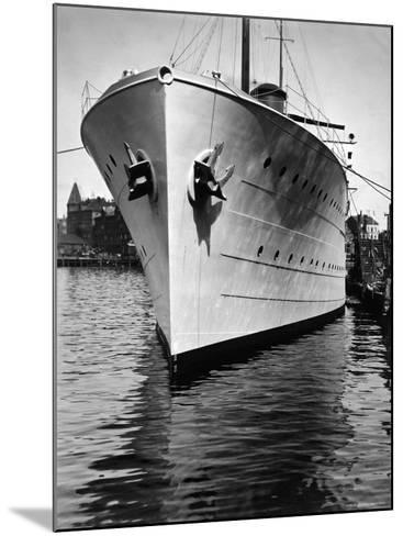 Mr. Astor's Yacht, the Nourmahal, Docked at Port in Kiel-Emil Otto Hopp?-Mounted Photographic Print