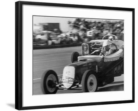 National Hot Rod Assoc. Drag Racing Meet-Allan Grant-Framed Art Print