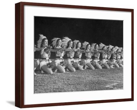The Tyler Apache Belles of Tyler Junior College-Joe Scherschel-Framed Art Print
