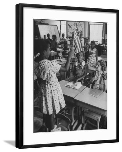 Students Sitting in Newly Integrated Classroom-James Burke-Framed Art Print