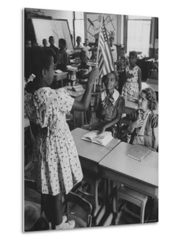 Students Sitting in Newly Integrated Classroom-James Burke-Metal Print