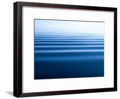 Small Gentle Ripples Move Across the Calm Surface of the Arctic Ocean-Norbert Rosing-Framed Art Print