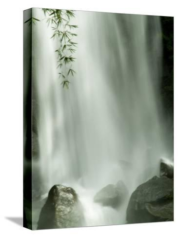 Close View Vertical of Trafalgar Falls Hitting the Rocks Below-Todd Gipstein-Stretched Canvas Print