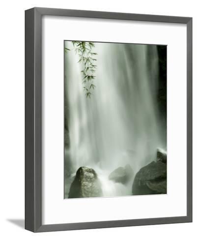Close View Vertical of Trafalgar Falls Hitting the Rocks Below-Todd Gipstein-Framed Art Print