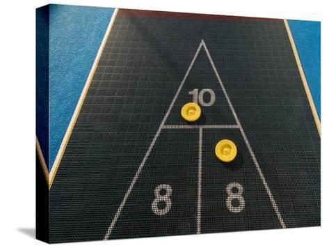 Shuffleboard Game on a Cruise Ship-Todd Gipstein-Stretched Canvas Print