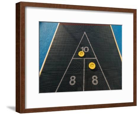 Shuffleboard Game on a Cruise Ship-Todd Gipstein-Framed Art Print