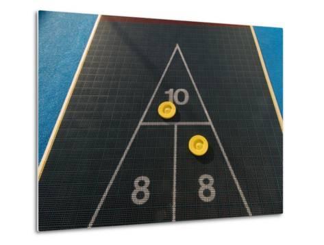 Shuffleboard Game on a Cruise Ship-Todd Gipstein-Metal Print