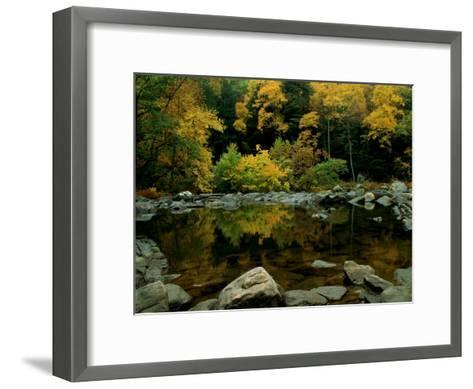 An Autumn View of Calf Pasture River-Medford Taylor-Framed Art Print
