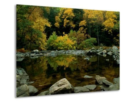 An Autumn View of Calf Pasture River-Medford Taylor-Metal Print