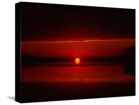 A View of the Morning Sun Rising over the Chesapeake Bay-Medford Taylor-Stretched Canvas Print