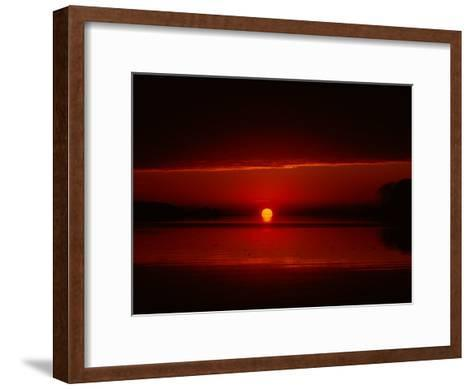 A View of the Morning Sun Rising over the Chesapeake Bay-Medford Taylor-Framed Art Print