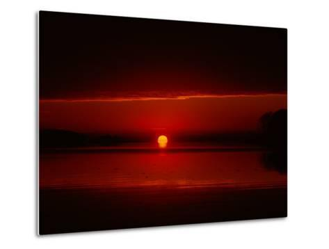 A View of the Morning Sun Rising over the Chesapeake Bay-Medford Taylor-Metal Print