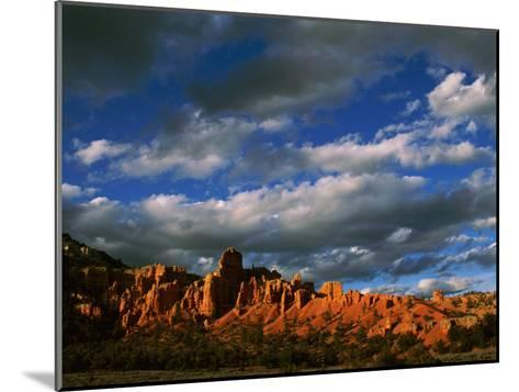 Warm Sunlight Washes over the Landscape of Cliffs in Utah-Barry Tessman-Mounted Photographic Print