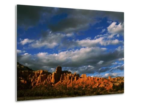 Warm Sunlight Washes over the Landscape of Cliffs in Utah-Barry Tessman-Metal Print