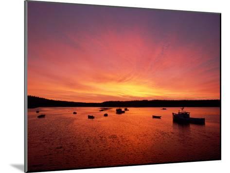 Fishing Boats Dot the Water at Twilight-James P^ Blair-Mounted Photographic Print