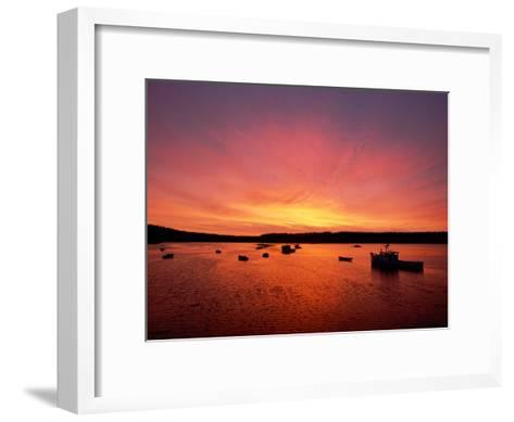 Fishing Boats Dot the Water at Twilight-James P^ Blair-Framed Art Print