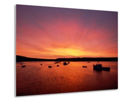Fishing Boats Dot the Water at Twilight-James P^ Blair-Metal Print