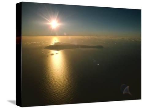 Aerial View of Easter Island Taken at 10,000 Feet-James P^ Blair-Stretched Canvas Print