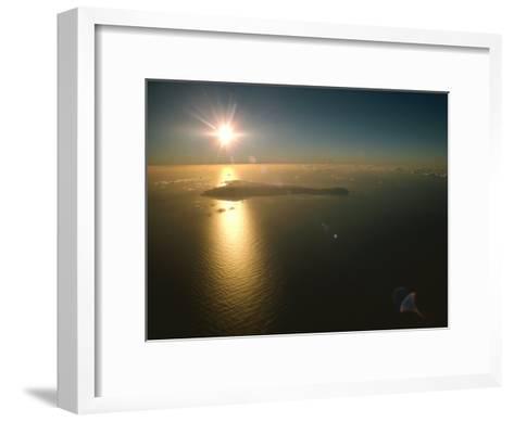 Aerial View of Easter Island Taken at 10,000 Feet-James P^ Blair-Framed Art Print
