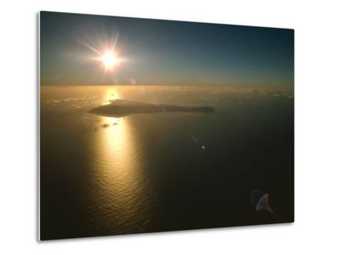 Aerial View of Easter Island Taken at 10,000 Feet-James P^ Blair-Metal Print