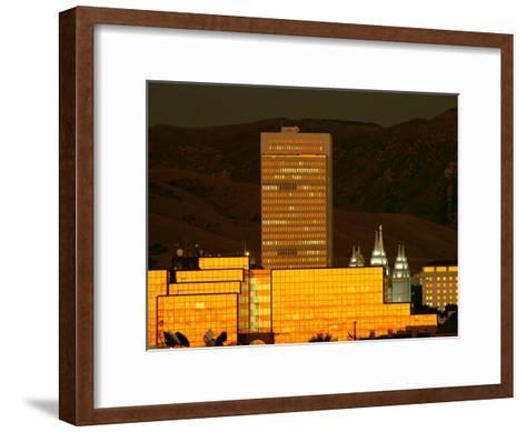 Salt Lake City at Sunset-James P^ Blair-Framed Art Print