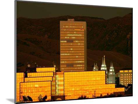 Salt Lake City at Sunset-James P^ Blair-Mounted Photographic Print