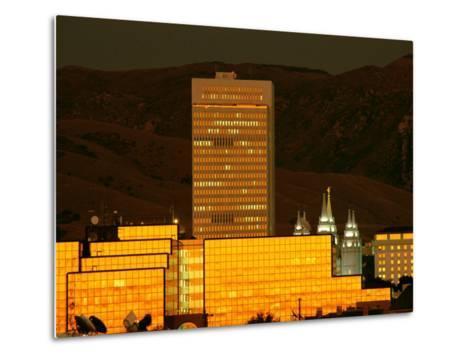Salt Lake City at Sunset-James P^ Blair-Metal Print