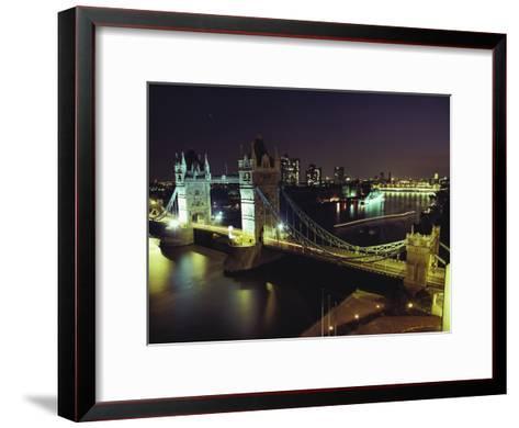 Tower Bridge, Thames River, London, England-O^ Louis Mazzatenta-Framed Art Print