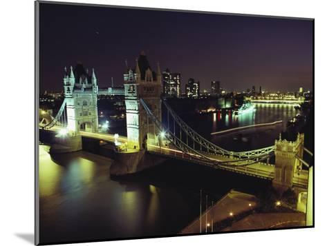 Tower Bridge, Thames River, London, England-O^ Louis Mazzatenta-Mounted Photographic Print