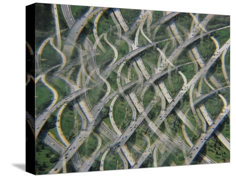 Rush Hour Traffic Leaving Washington for the Maryland Suburbs-Emory Kristof-Stretched Canvas Print