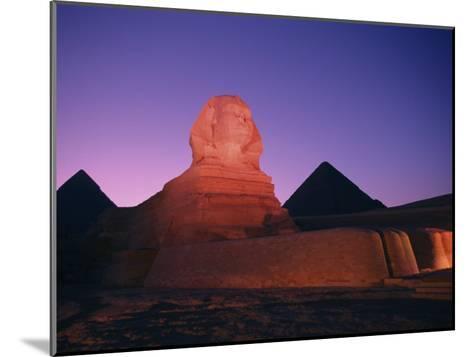 The Great Sphinx Illuminated at Night-Richard Nowitz-Mounted Photographic Print