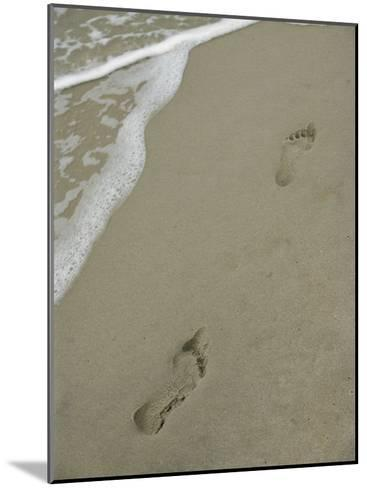 Footprints on the Beach-Al Petteway-Mounted Photographic Print