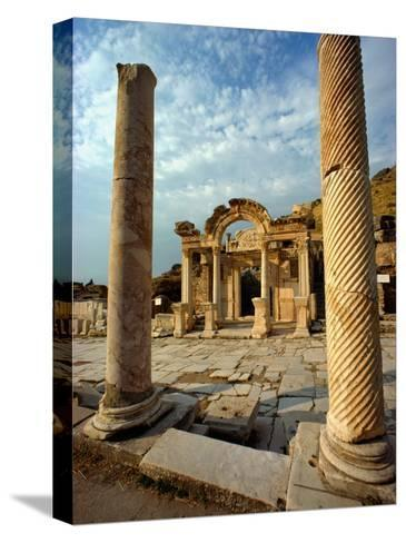 The Remains of Hadrians Gate at Ephesus-Gordon Gahan-Stretched Canvas Print
