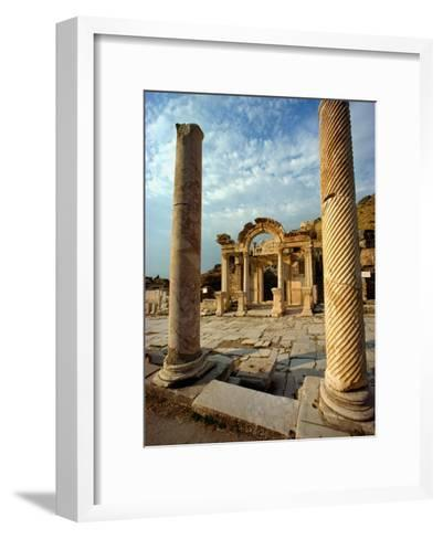 The Remains of Hadrians Gate at Ephesus-Gordon Gahan-Framed Art Print