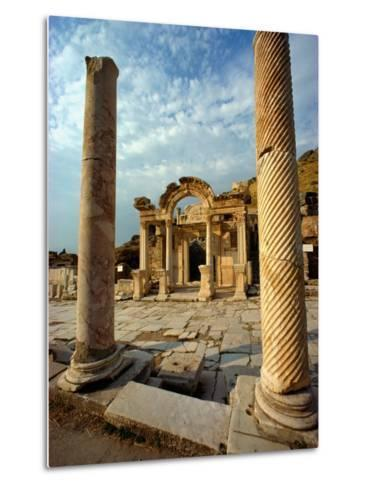 The Remains of Hadrians Gate at Ephesus-Gordon Gahan-Metal Print