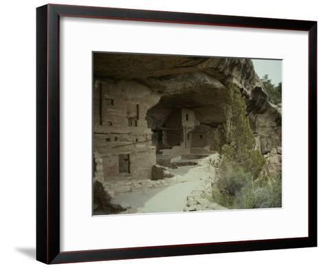 Anasazi Ruins at Mesa Verde National Park-Stacy Gold-Framed Art Print