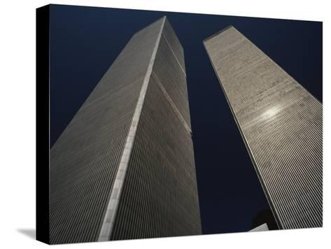 A View of the Twin Towers of the World Trade Center-Roy Gumpel-Stretched Canvas Print
