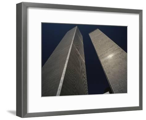 A View of the Twin Towers of the World Trade Center-Roy Gumpel-Framed Art Print